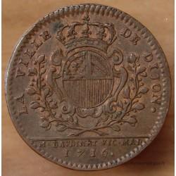 Jeton Bourgogne - Etienne Baudinet Maire de Dijon 1716