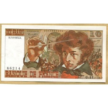 10 Francs Berlioz 7-2-1974 U.17