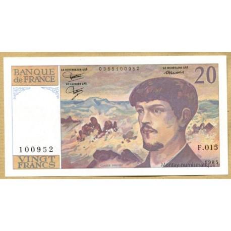 20 Francs Debussy 1985 F.015