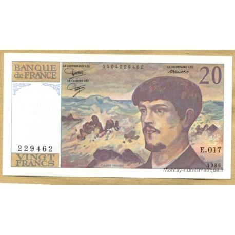20 Francs Debussy 1986 E.017