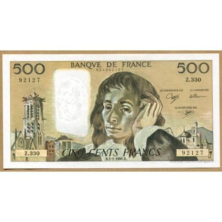 500 Francs Pascal 3-1-1991 Z.330