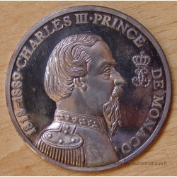 MONACO Médaille Prince Charles III (1818 - 1889) ND ( 1975).