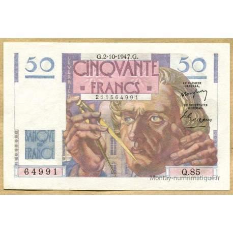 50 Francs Le Verrier 2-10-1947 Q.85