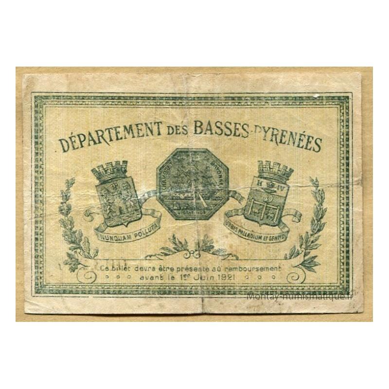 Bayonne 64 1 franc 22 mai 1916 chambre de commerce - Chambre du commerce bayonne ...