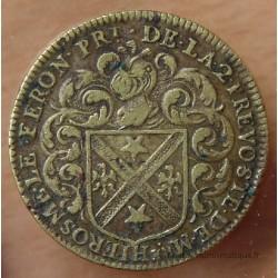 Jeton Ile de France Jérôme Le Féron 1649 , prévôt des marchands.