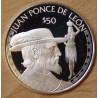 Îles Cook 50 dollars 1988 proof Elisabeth - Juan Ponce De Leon