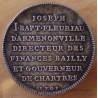 Jeton Ile de France Fleuriau d'Armenonville 1703, gouverneur de Chartres.