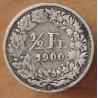 Suisse 1/2 Franc 1900 B