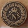 Un décime Napoléon I 1814 BB Strasbourg avec point