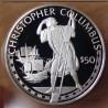 Îles Cook 50 dollars 1988 proof Elisabeth - Christophe Colomb