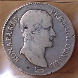 5 Francs Bonaparte 1er Consul AN 12 D Lyon