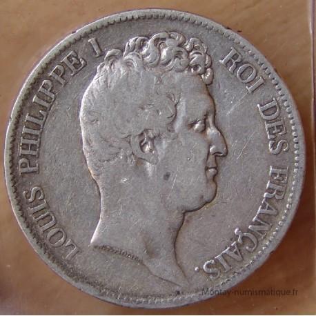 5 Francs Louis Philippe I tête nue 1831 D Lyon