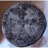 Henri III Quart Ecu croix de face 1579 H La Rochelle