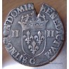 Henri III Quart Ecu croix de face 1585 C Saint-Lô