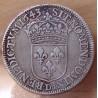 Louis XIII 1/2 Ecu 1643 D Lyon , 2 eme poinçon de Warin
