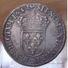 Louis XIV 1/2 Ecu mèche courte 1652 D Lyon ( rectifié 52/44).