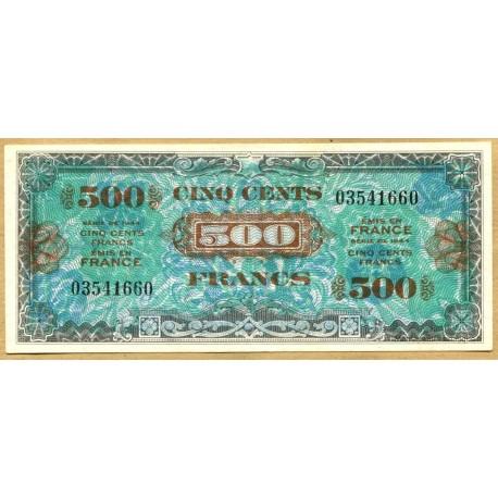 500 Francs Drapeau Juin 1944 sans série