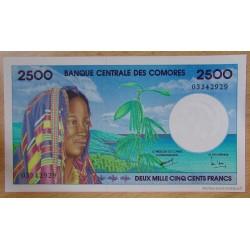 Les Comores - 2500 Francs 1997 Banque Centrale des Comores