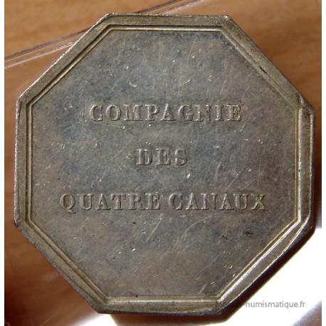 Jetons Compagnie des quatre Canaux 1822