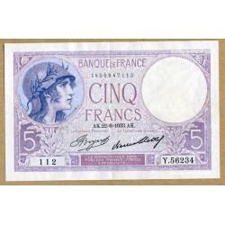 5 Francs Violet 22-6-1933 Y.56234