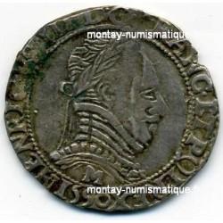 Henri III Demi Franc Col plat 1590 M Toulouse