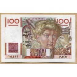 100 Francs Paysan 3-4-1947 P.200