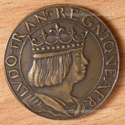 Essai de métal et de module au type du ducat d'or de Naples ND