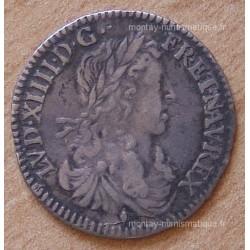 Louis XIV 1/12 eme Ecu Buste Juvénile 1663 Aix