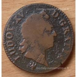 Louis XV Sol vieille tête 1771 S Reims