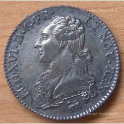 Louis XVI 1/2 Ecu buste habillé 1791 A pointé