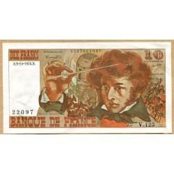 10 Francs Berlioz 3-10-1974 V.123